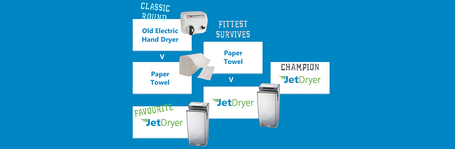hand dryers v paper towels