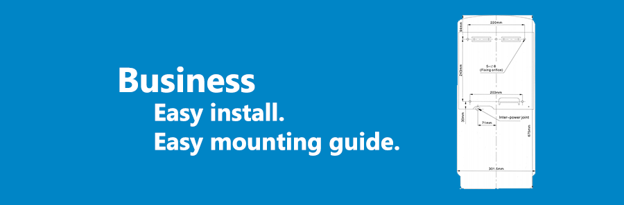 business wall mounting installation guide