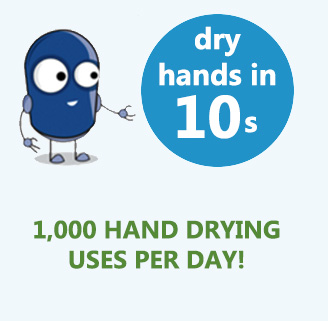 1000 hand dries per day with business2