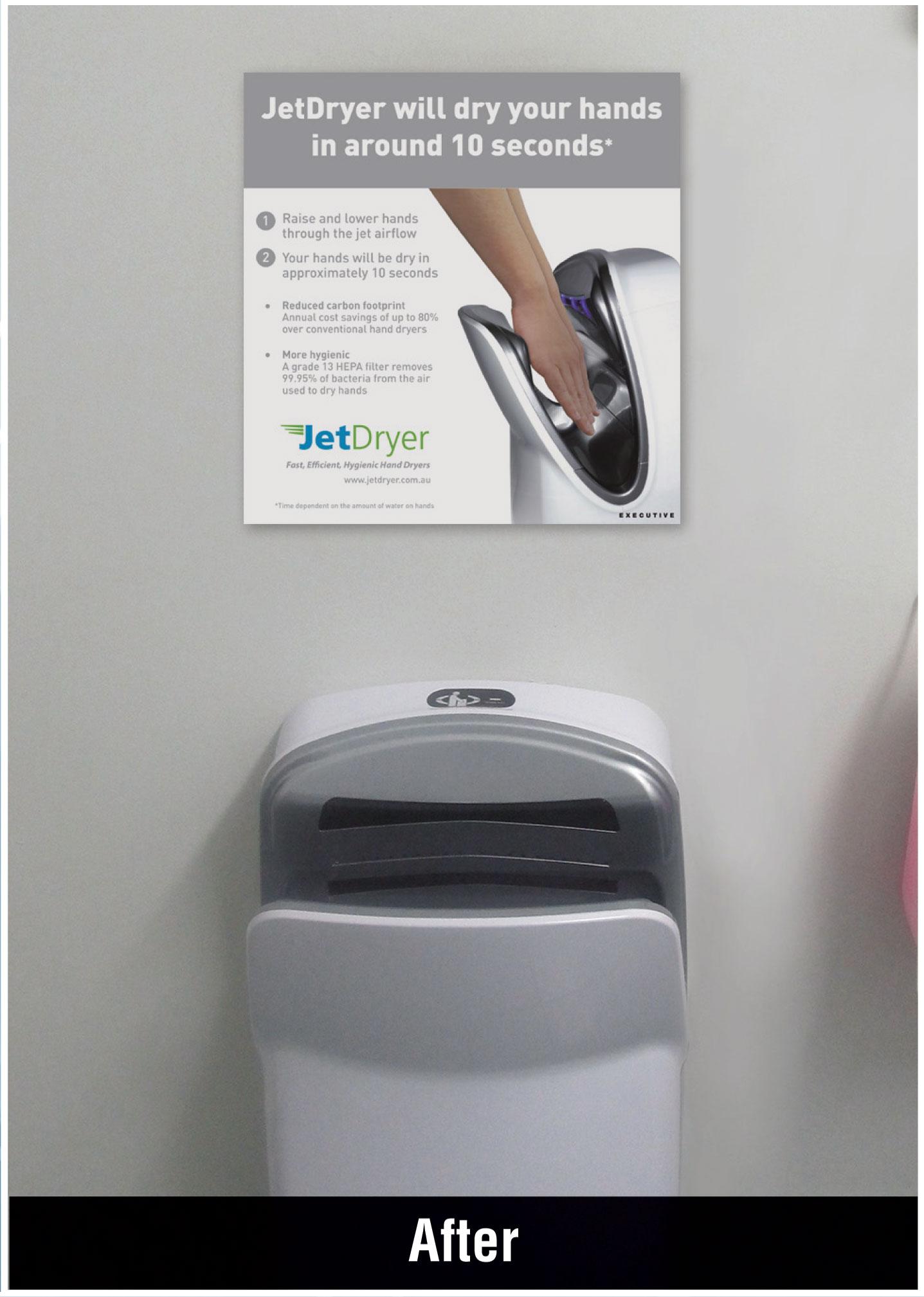 hand dryer installation after